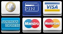 Contant, Creditcard, Pin